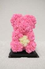 S-Heart Pink Rose Bear