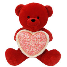 "42"" Cherry Red Bear With Heart"