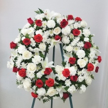 My Condolences Standing Wreath