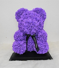 M-Purple Rose Bear