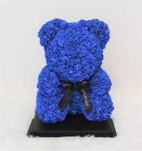 M-Blue Rose Bear