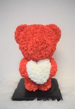 Standing Red Rose Bear