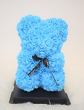 S-Blue Rose Bear