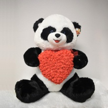 "35"" Panda Red Heart Rose Teddy Bear"