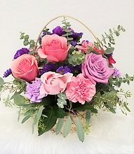 Pink and Purple Basket