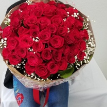 50 Premium Red Roses Bouquet