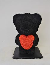 Standing Black Rose Bear