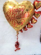 Gold Valentine Balloon